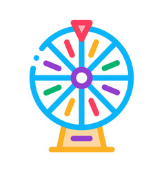 wheel fortune icon outline vector image