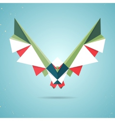 Colourful origami pigeon or dove vector image