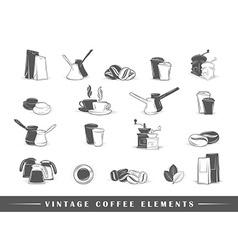 Retro coffee elements vector image vector image