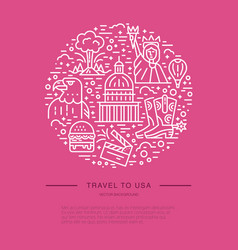 the circle with usa symbols vector image vector image