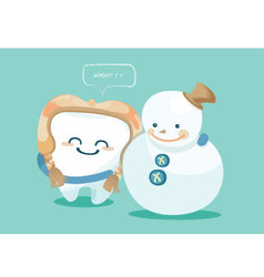 Winter of tooth vector image vector image