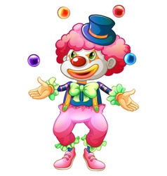 A clown with her balls vector image vector image