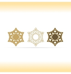 Geometric shapes or mandala decorative vector image
