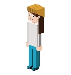 Lego female silhouette worker with helmet vector