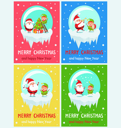 merry christmas funny moments vector image vector image