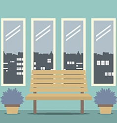 Wooden Chair With Four Glasses Windows vector image vector image