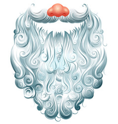 beard mustache and red nose santa claus mask vector image vector image
