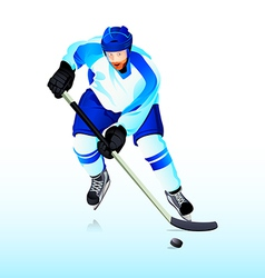 Ice-hockey player vector image vector image