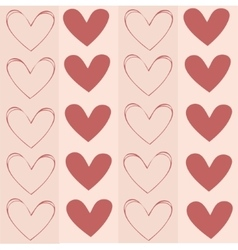 Seamless background texture pattern with hearts vector image