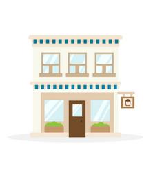 Store house flat design vector