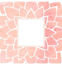 Watercolor pink floral frame vector image vector image