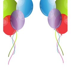 Balloon background vector image