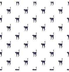 Black cat pattern cartoon style vector