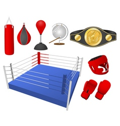 boxing objects vector image