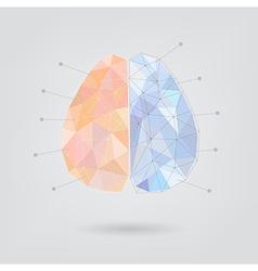 Brain concept creative triangle style v2 vector image vector image