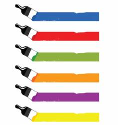 colorful brushes vector image
