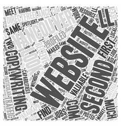 Copywriting Vancouver Word Cloud Concept vector image vector image