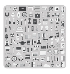 flat icons education and back to school set vector image