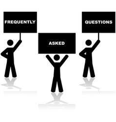 Frequently Asked Questions vector image vector image