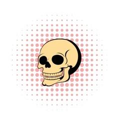 Human skull icon comics style vector image