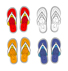 vietnamese slippers on a white background vector image vector image
