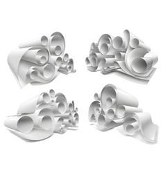 3d paper rolls mockup set vector image