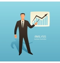 Analysis business conceptual with vector image