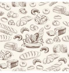 bakery retro seamless pattern vector image