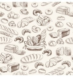 Bakery retro seamlrss pattern vector