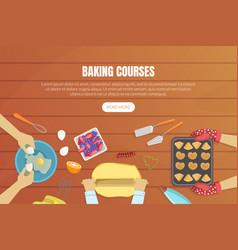 baking courses landing page templates set vector image