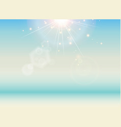 Beach with blue sea and sunlight landscape vector