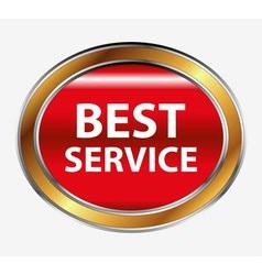 Best service button vector
