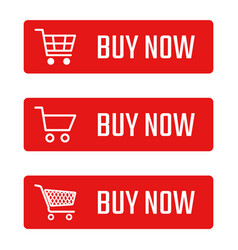 buy now button set shopping trolley signs vector image