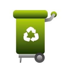 can trash recycle recycling vector image