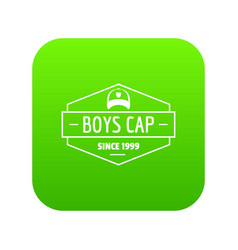 cap icon green vector image