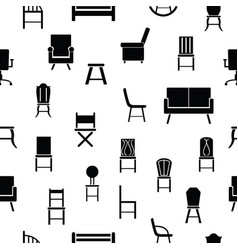 chair seamless pattern background icon vector image