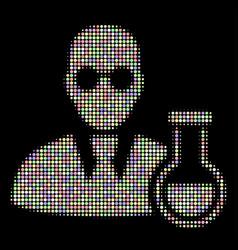 chemist halftone mosaic of circles vector image