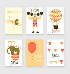 Circus set of characters vector