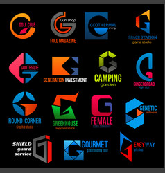 company modern colorful corporate identity h icons vector image
