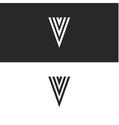 creative initial v letter logo monogram black vector image