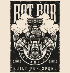 Custom cars vintage poster vector
