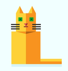 Cute bright flat cat vector image