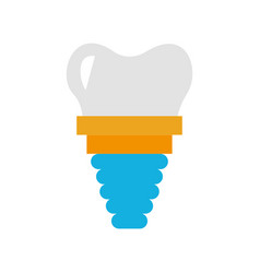 Dental implant isolated icon vector