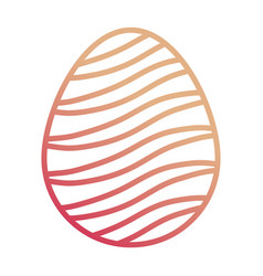 Easter egg with curved lines d vector