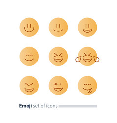emoji icons emoticon symbols face expression signs vector image