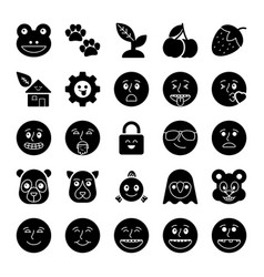 Emoticons icons collection vector