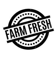 farm fresh rubber stamp vector image