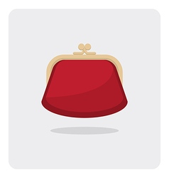 Flat icon purse vector