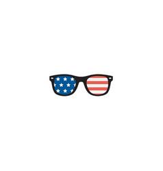 Flat usa glasses element of vector