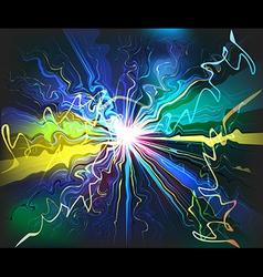 Galaxy glassy waves futuristic virtual technology vector